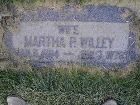 WILLEY, MARTHA P - Davis County, Utah   MARTHA P WILLEY - Utah Gravestone Photos