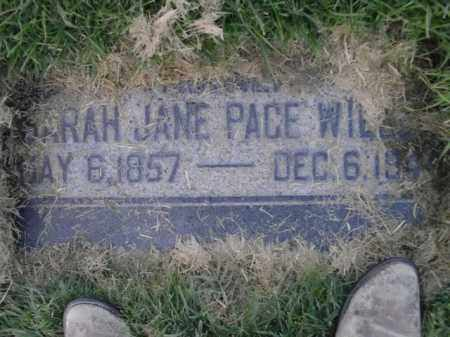 WILLEY, SARAH JANE - Davis County, Utah   SARAH JANE WILLEY - Utah Gravestone Photos