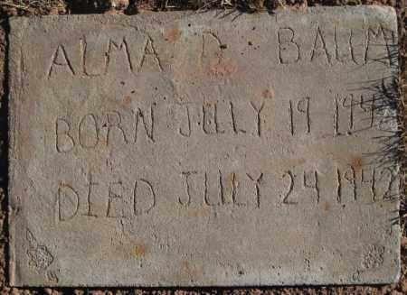 BAUM, ALMA D - Duchesne County, Utah | ALMA D BAUM - Utah Gravestone Photos