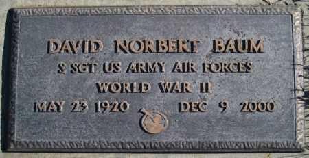 BAUM (WWII), DAVID NORBERT - Duchesne County, Utah | DAVID NORBERT BAUM (WWII) - Utah Gravestone Photos