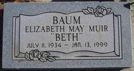 BAUM, ELIZABETH MAY - Duchesne County, Utah   ELIZABETH MAY BAUM - Utah Gravestone Photos