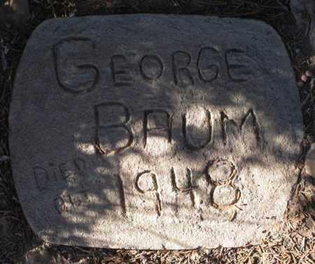BAUM, GEORGE - Duchesne County, Utah   GEORGE BAUM - Utah Gravestone Photos