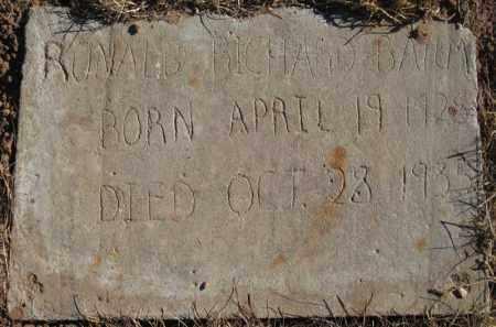 BAUM, RONALD RICHARD - Duchesne County, Utah | RONALD RICHARD BAUM - Utah Gravestone Photos