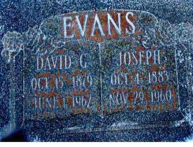 EVANS, DAVID G - Duchesne County, Utah | DAVID G EVANS - Utah Gravestone Photos