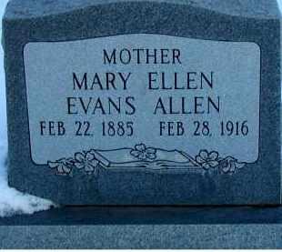 EVANS ALLEN, MARY ELLEN - Duchesne County, Utah | MARY ELLEN EVANS ALLEN - Utah Gravestone Photos