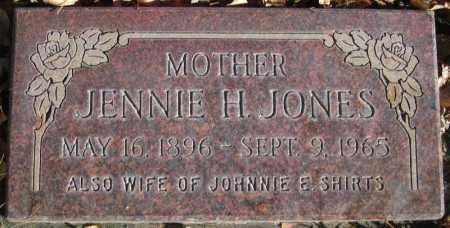 JONES, JENNIE H - Duchesne County, Utah | JENNIE H JONES - Utah Gravestone Photos