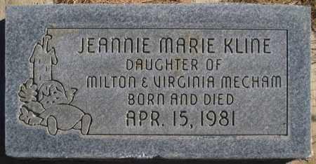 KLINE, JEANNIE MARIE - Duchesne County, Utah   JEANNIE MARIE KLINE - Utah Gravestone Photos