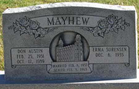 MAYHEW, DON AUSTIN - Duchesne County, Utah | DON AUSTIN MAYHEW - Utah Gravestone Photos