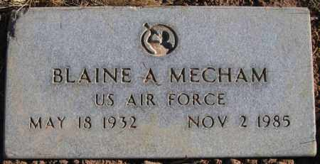 MECHAM, BLAINE A - Duchesne County, Utah | BLAINE A MECHAM - Utah Gravestone Photos
