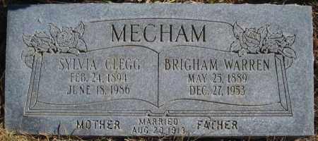 CLEGG MECHAM, SYLVIA - Duchesne County, Utah | SYLVIA CLEGG MECHAM - Utah Gravestone Photos