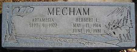 MECHAM, HERBERT L - Duchesne County, Utah | HERBERT L MECHAM - Utah Gravestone Photos