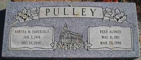PULLEY, REED ALONZO - Duchesne County, Utah | REED ALONZO PULLEY - Utah Gravestone Photos