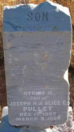 PULLEY, HYRUM H. - Duchesne County, Utah   HYRUM H. PULLEY - Utah Gravestone Photos
