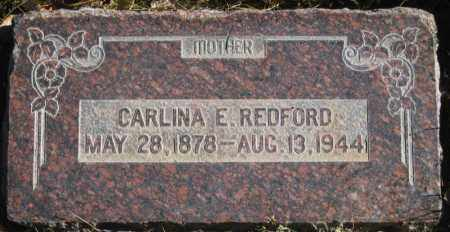 REDFORD, CARLINA E. - Duchesne County, Utah | CARLINA E. REDFORD - Utah Gravestone Photos