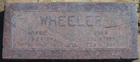 WHEELER, JOHN - Duchesne County, Utah | JOHN WHEELER - Utah Gravestone Photos