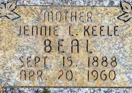 KEELE BEAL, JENNIE LUELLA - Emery County, Utah | JENNIE LUELLA KEELE BEAL - Utah Gravestone Photos