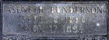 BUNDERSON, ASENETH - Emery County, Utah | ASENETH BUNDERSON - Utah Gravestone Photos