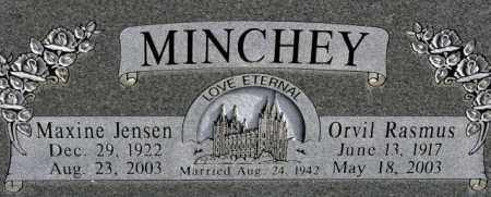 JENSEN MINCHEY, MAXINE SNOW - Emery County, Utah   MAXINE SNOW JENSEN MINCHEY - Utah Gravestone Photos