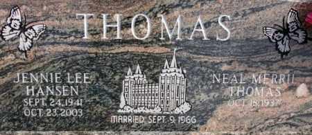 HANSEN, JENNIE LEE - Emery County, Utah | JENNIE LEE HANSEN - Utah Gravestone Photos