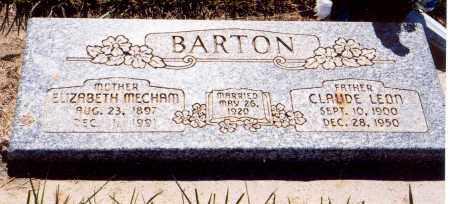 MECHAM BARTON, ELIZABETH - Garfield County, Utah | ELIZABETH MECHAM BARTON - Utah Gravestone Photos