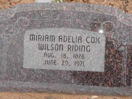 RIDING, MIRIAM ADELIA - Garfield County, Utah | MIRIAM ADELIA RIDING - Utah Gravestone Photos