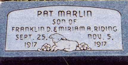 RIDING, PAT MARLIN - Garfield County, Utah   PAT MARLIN RIDING - Utah Gravestone Photos