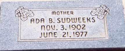 SUDWEEKS, ADA - Garfield County, Utah | ADA SUDWEEKS - Utah Gravestone Photos