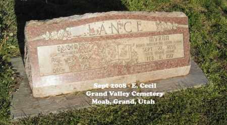 LANCE, MYRON - Grand County, Utah | MYRON LANCE - Utah Gravestone Photos