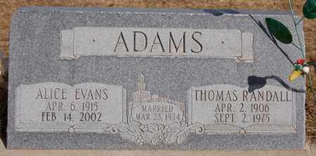 ADAMS, THOMAS RANDALL - Iron County, Utah | THOMAS RANDALL ADAMS - Utah Gravestone Photos