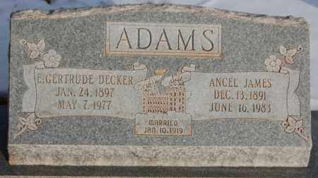 DECKER ADAMS, E. GERTRUDE - Iron County, Utah | E. GERTRUDE DECKER ADAMS - Utah Gravestone Photos