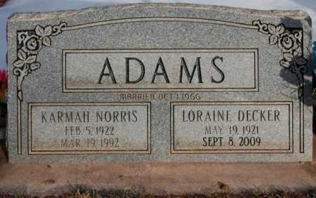 ADAMS, LORAINE DECKER - Iron County, Utah | LORAINE DECKER ADAMS - Utah Gravestone Photos