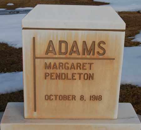 PENDLETON ADAMS, MARGARET - Iron County, Utah   MARGARET PENDLETON ADAMS - Utah Gravestone Photos