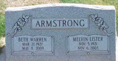 ARMSTRONG, MELVIN LISTER - Iron County, Utah | MELVIN LISTER ARMSTRONG - Utah Gravestone Photos