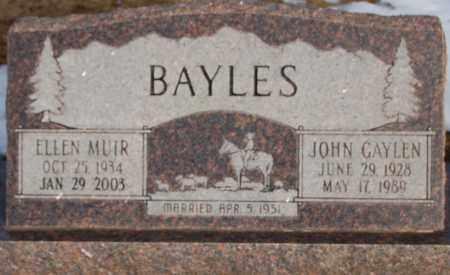BAYLES, JOHN GAYLEN - Iron County, Utah | JOHN GAYLEN BAYLES - Utah Gravestone Photos
