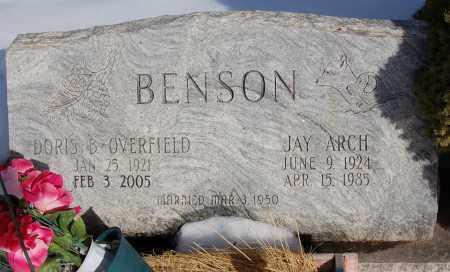 OVERFIELD BENSON, DORIS B. - Iron County, Utah | DORIS B. OVERFIELD BENSON - Utah Gravestone Photos
