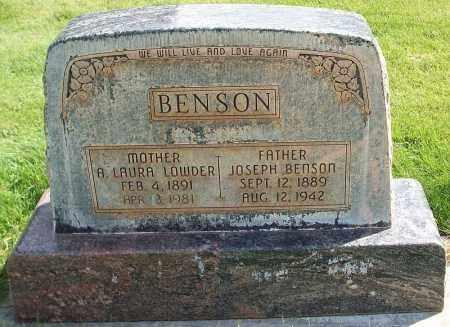 BENSON, ANNA LAURA - Iron County, Utah | ANNA LAURA BENSON - Utah Gravestone Photos