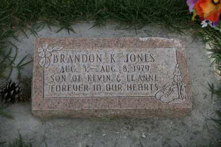 JONES, BRANDON - Iron County, Utah | BRANDON JONES - Utah Gravestone Photos