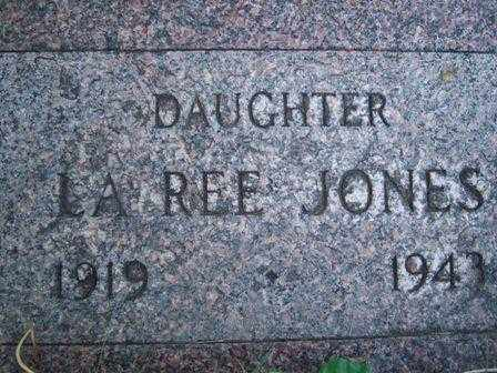 JONES, LAREE - Iron County, Utah | LAREE JONES - Utah Gravestone Photos