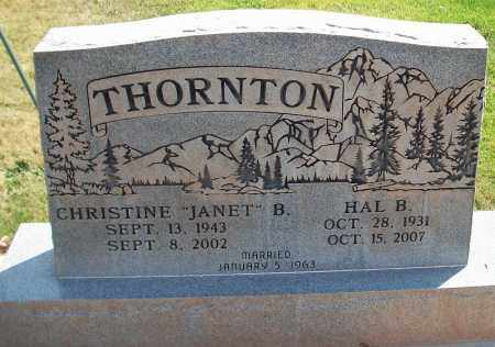 THORNTON, CHRISTINE - Iron County, Utah | CHRISTINE THORNTON - Utah Gravestone Photos