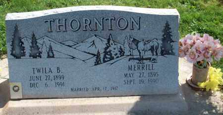 THORNTON, MERRILL - Iron County, Utah | MERRILL THORNTON - Utah Gravestone Photos
