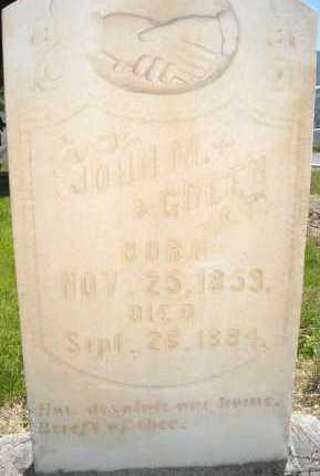 GREEN, JOHN M. - Juab County, Utah   JOHN M. GREEN - Utah Gravestone Photos