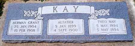KAY, ALTATIER - Juab County, Utah | ALTATIER KAY - Utah Gravestone Photos
