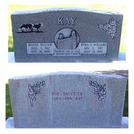KAY, MELVIN WILLIAM - Juab County, Utah | MELVIN WILLIAM KAY - Utah Gravestone Photos