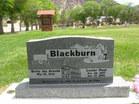 BLACKBURN, LESTER PAUL - Kane County, Utah | LESTER PAUL BLACKBURN - Utah Gravestone Photos