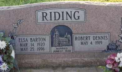 RIDING, ELSA - Kane County, Utah | ELSA RIDING - Utah Gravestone Photos