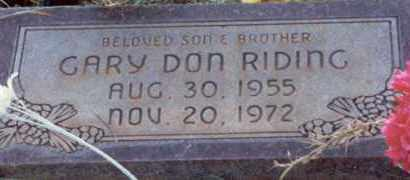 RIDING, GARY DON - Kane County, Utah | GARY DON RIDING - Utah Gravestone Photos