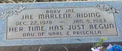 RIDING, JAE MARLENE - Kane County, Utah | JAE MARLENE RIDING - Utah Gravestone Photos
