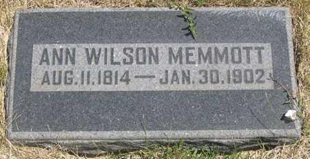 WILSON MEMMOTT, ANN - Millard County, Utah   ANN WILSON MEMMOTT - Utah Gravestone Photos