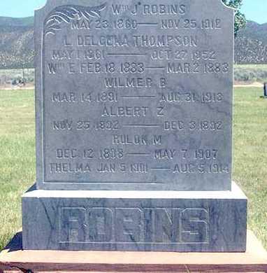 ROBINS, ALBERT ZERA - Millard County, Utah | ALBERT ZERA ROBINS - Utah Gravestone Photos