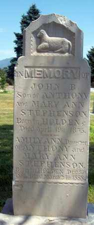 STEPHENSON, JOHN BENNETT - Millard County, Utah | JOHN BENNETT STEPHENSON - Utah Gravestone Photos